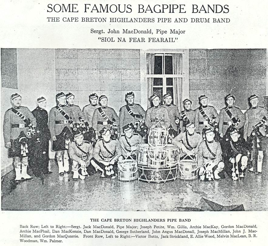 Pre-war photograph of the C.B.H. pipe  band